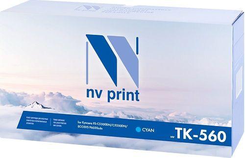 Картридж NVP NV-TK560C для Kyocera FS-C5300DN/C5350DN/ECOSYS P6030cdn, 10000k, синий