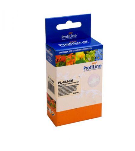 Фото - Картридж струйный ProfiLine PL-CLI-8M-M Картридж PL-CLI-8M для принтеров Canon Pixma iP3300/iP6600D/MP950 с чипом Magenta водн ProfiLine картридж profiline pl