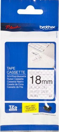 Наклейка Brother TZESE4 Наклейка ламинированная TZ-ESE4 (18 мм черн/бел секретная) наклейка