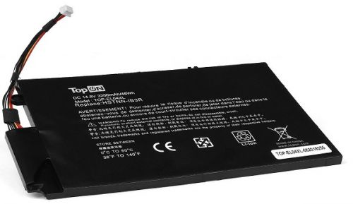 Аккумулятор для ноутбука HP TopOn TOP-EL04XL TouchSmart 4, Envy 1000, 4-1000 Series. 14.8V 3200mAh 48Wh. PN: HSTNN-UB3R, EL04XL, TPN-C102, 681879-121