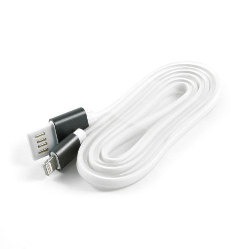Кабель интерфейсный USB 2.0 Cablexpert AM/Lightning 8P CC-ApUSBgy1m 1 м, силиконовый шнур, разъемы темно-серый металлик, пакет кабель canyon usb lightning cne cfi3 1 м темно серый