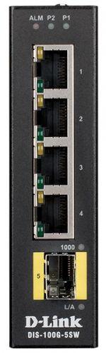 Фото - Коммутатор промышленный неуправляемый D-link DIS-100G-5SW/A1A 4x10/100/1000Base-T, 1x1000Base-X SFP, c функцией энергосбережения и поддержкой QoS коммутатор промышленный управляемый d link dis 200g 12ps a1a 10x10 100 1000base t 2x1000base x sfp 8 портов с поддержкой poe 802 3af 802 3at 30 вт