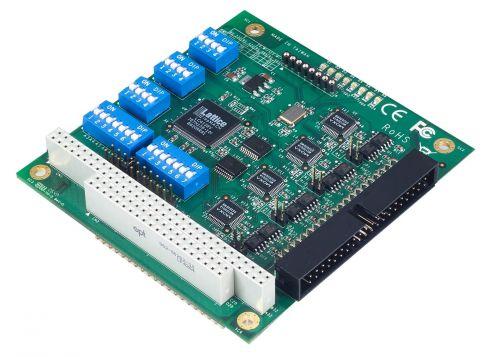 Плата MOXA CA-114 w/o Cable 4-port RS-232/422/485 PC-104 Module, Surge Protection плата moxa cp 134el a i w o cable 4 port pcie board w o cable low profile rs 422 485 w surge w isolation
