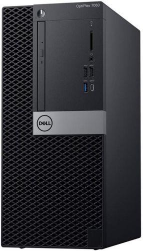Dell Компьютер Dell Optiplex 7060 MT i7 8700 (3.2)/16Gb/1Tb 7.2k/SSD256Gb/RX 550 4Gb/DVDRW/Win10Pro/GbitEth/200W/клавиатура/мышь/черный/серебристый (7060-6146)