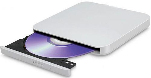 Привод DVD±RW внешний LG GP95NW70 LG External Slim ODD USB 2.0, Android Compatible, M-DISC, TV Connectivity, White, RTL внешний привод dvd rw lg gp60nw60 dvd±r ±rw usb2 0 white