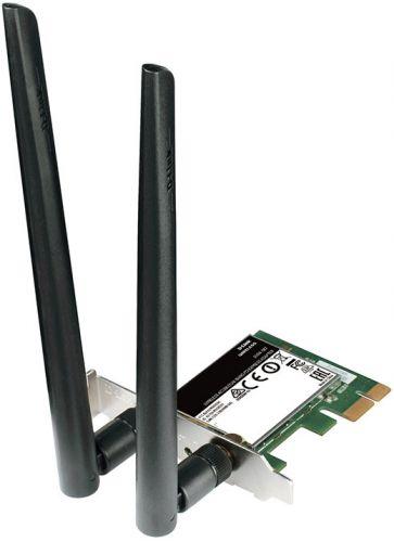 Сетевая карта D-link DWA-582/RU/A1A WiFi 802.11 b/g/n/ac, 2.4/5ГГц, PCI-E, rev RU/A1A, RU/B1A