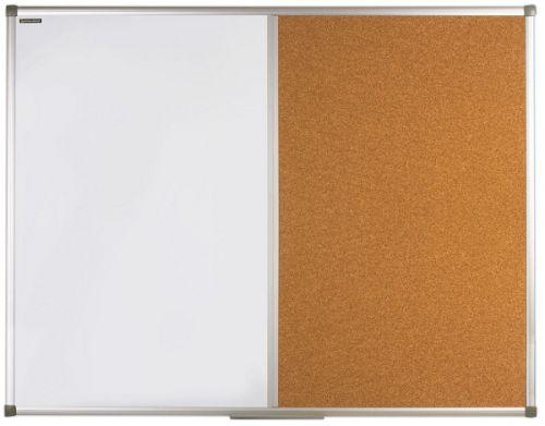 Доска BRAUBERG 236865 комбинированная, магнитно-маркерная, пробковая для объявлений 90х120 см