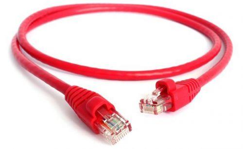 Фото - Кабель патч-корд UTP 5e кат. 1м. GCR GCR-LNC04-1.0m , AWG24, RJ45, литой (Красный), пластик пакет кабель патч корд utp 5e кат 20м gcr gcr lnc03 20 0m rj45 литой серый