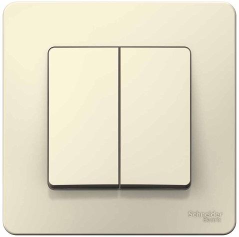 Выключатель Schneider Electric BLNVS006502 2-клавишный, 6А, 250В Молочный внутр