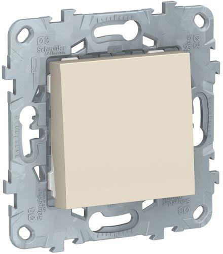 Фото - Переключатель Schneider Electric NU520344 UnicaNew, беж, 1-клавишный, сх. 6, 10 AX, 250В выключатель schneider electric nu520118 unicanew белый 1 клавишный сх 1 10 ax 250в