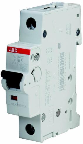 Фото - Автоматический выключатель ABB 2CDS251001R0065 S201 1P 6A (B) 6kA автоматический выключатель abb 2cds251103r0104 s201 1p n 10а с 6ка