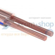 Rexant 2х0.25 мм², прозрачный BLUELINE, 100 м.
