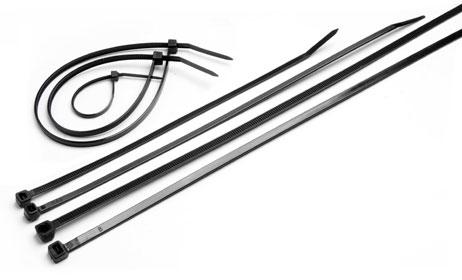 Стяжка нейлоновая не открывающаяся Cabeus CTBL-300 безгалогенная (halogen free), 300x3.6мм, черная (100 шт) стяжка для рамы кровати усиленная черная al12r bl