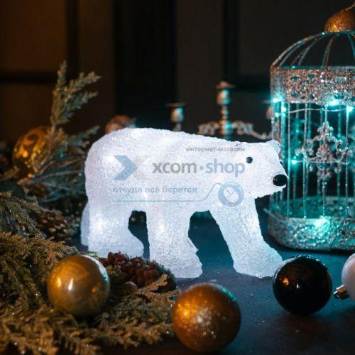 Фигура светодиодная NEON-NIGHT 513-315 акриловая, медведь 34,5х12х17 см, 4,5 В, 3 батарейки AA (не входят в комплект), 24 светодиода