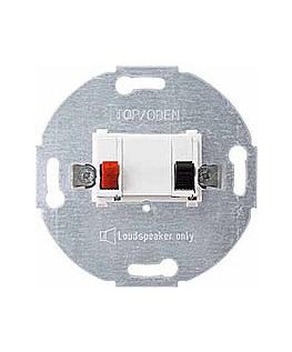 Розетка Schneider Electric MTN466919 Merten (механизм) аудио 1-ая для громкоговорителя, пружинные клеммы, IP20 (белая)