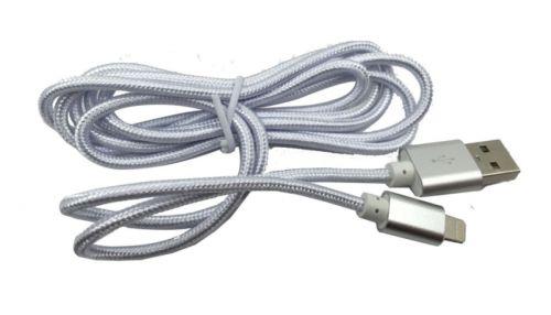 Кабель интерфейсный Red Line USB-Lightning УТ000014152 для Apple 2 м нейлоновая оплетка, серебристый кабель интерфейсный red line usb micro usb ут000014162 2 м нейлоновая оплетка золотой