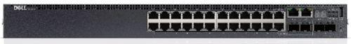 Коммутатор Dell EMC N3024ET-ON N3024ET-APXD-01 24x1GBT, 2xSFP+ 10GBE, 2 комб. порта GBE, L3, стек., возд. пот. от пан. в/в к бл. пит., 1 бл. пит. пер.