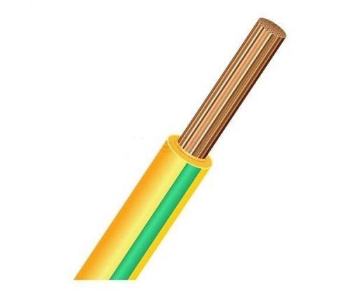 Провод РЭК-Prysmian ПуГВ 1х16 ГОСТ, установочный, зелено-желтый