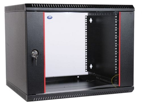 Шкаф настенный 19, 9U ЦМО ШРН-Э-9.500-9005 (600х520) дверь стекло,черный [ ]