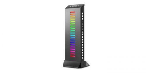 Держатель Deepcool GH-01 A-RGB для видеокарты (комплект цветового дооснащения корпуса, RGB, подключение 3pin (+5V-D-G)) Color Box