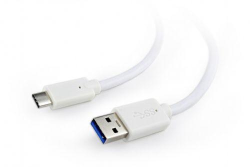 Кабель интерфейсный USB 3.0 Cablexpert CCP-USB3-AMCM-6-W / TypeC белого цвета, 1,8 м