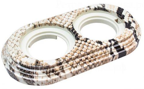 Рамка Bironi BF1-620-12/PL королевская кобра, 2-ая, пластик