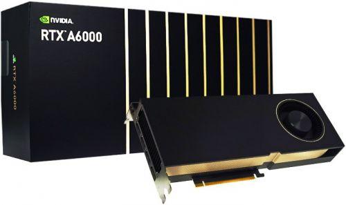 Видеокарта PCI-E PNY Quadro RTX A6000 VCNRTXA6000-PB 48GB GDDR6 384bit 8nm 1455/16000MHz 4*DP 300W RTL (Quadro RTX A6000 - VCNRTXA6000-PB)