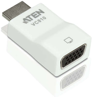 Конвертер Aten VC810-AT HDMI=>VGA, HDMI>HD-DB15, Male-Female, без БП, (1920x1200 ;1080p)