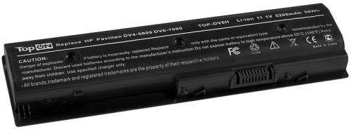 Аккумулятор для ноутбука HP TopOn TOP-DV6H для моделей Pavilion m6-1000, dv4-5000, dv6-7000, dv7-7000, Envy m6-1100 11.1V 5200mAh 58Wh. PN: HSTNN-LB3P
