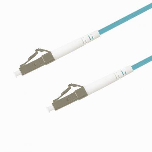 Кабель патч-корд волоконно-оптический TELCORD ШОС-3.0-LC/U-LC/U-MM503-15м-LSZH-AQ simplex LC/UPC-LC/UPC, MM 50/125 (OM3), 3.0 мм, LSZH, 15м