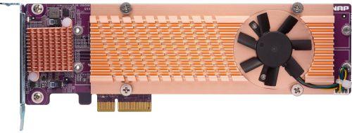 Карта расширения QNAP QM2-4P-342 Quad M.2 PCIe SSD; supports up to four M.2 2280 formfactor M.2 PCIe (Gen3 x2) SSDs; PCIe Gen3 x4 host interface; Low-