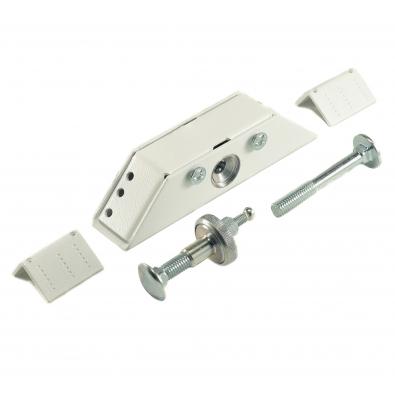 Замок Promix Шериф-1 лайт НО Promix-SM101.01 white угловой малогабаритный, усилие удержания ригеля 400 кг, белый