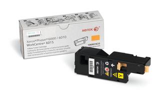 Принт-картридж Xerox 106R01633 для Phaser 6000/6010/6015 жёлтый 1000 стр принт картридж xerox 106r01600 для phaser 6500 wc 6505 жёлтый 1 000 стр