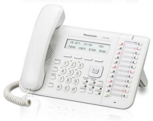 Системный телефон Panasonic KX-DT543RU для KX-TDA/TDE/NCP (белый) panasonic kx dt346ru white цифровой системный телефон