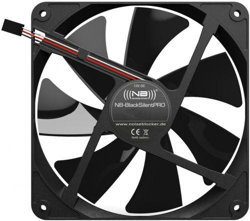 Вентилятор для корпуса Noiseblocker BlackSilentPRO PK-3 90,05 CFM, 140х140х25 мм,1700 об/мин, 27dBA, 3-pin вентилятор noiseblocker blacksilentpro pr 1 60mm 1800rpm