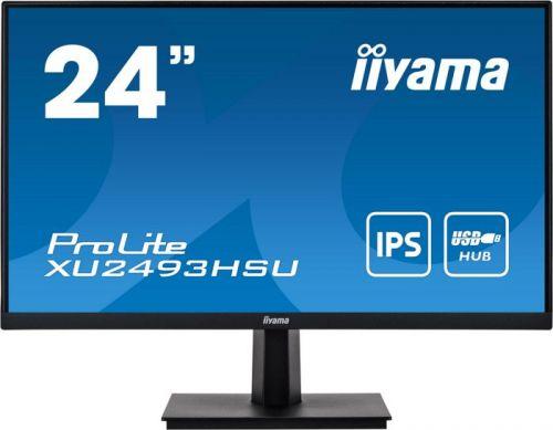 Монитор 23,8 Iiyama XU2493HSU-B1 1920x1080, 4 ms, 250 cd/m, 80000000:1, 178°/178°, IPS, HDMI, DP, VGA (D-Sub), аудио стерео, USB, SPK, USB Type A x2, монитор 24 asus va24dq 1920x1080 5 ms 250 cd m 100000000 1 178° 178° ips hdmi 1 4 displayport 1 2 vga аудио стерео spk
