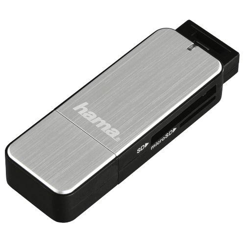Карт-ридер внешний HAMA H-123900 00123900 USB3.0, серебристый