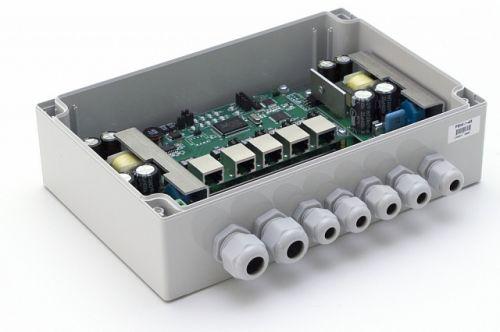 Коммутатор TFortis PSW-1-45 (медь) Уличный неуправляемый для подключения 4 камер