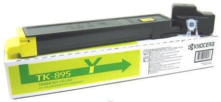 Тонер-картридж Kyocera TK-895Y 1T02K0ANL0 для Kyocera FS-C8020/C8025 yellow 6 000 страниц