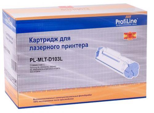 Картридж ProfiLine PL-MLT-D103L для принтеров Samsung ML-2950ND/2951D/2955ND/2955DW/2956D/2956DN/SCX-4701ND/4729HW/4729HW/4729FD/4729FW/4729XFA/4728HN картридж t2 tc s103l для samsung ml 2950ndr 2955dw scx 4727fd 4729fw 2500стр