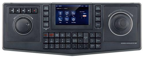 Пульт Wisenet SPC-7000 сетевой универсальный с джойстиком, клавиатурой и прокруткой по архиву; поддержка IP камер, аналоговых регистраторов и аналогов