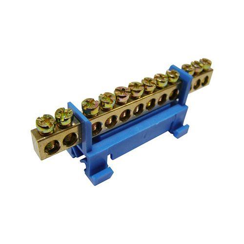 Шина IEK YNN10-69-10P-K07 ШНИ-6х9-10-С-С нулевая на DIN-изолятор типа Стойка