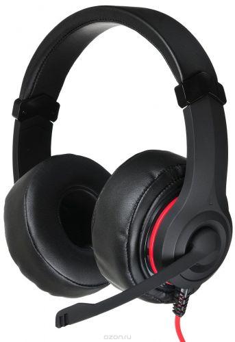 Гарнитура проводная Oklick HS-L330G NIGHTMARE N-6 черный, 2.2 м, мониторы, оголовье