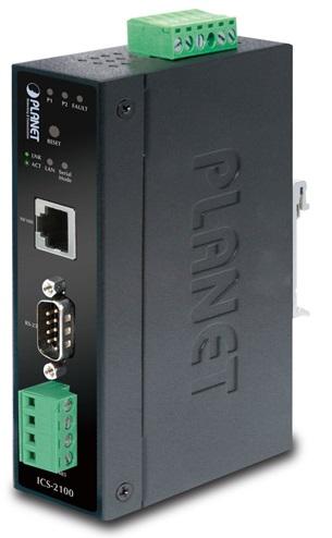 Конвертер промышленный Planet ICS-2100 Ethernet с последовательными портами RS-232/ RS-422/ RS-485