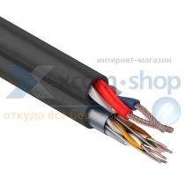 Rexant FTP 4PR 24AWG CAT5e + 2х0.75мм²., 200м., черный, OUTDOOR