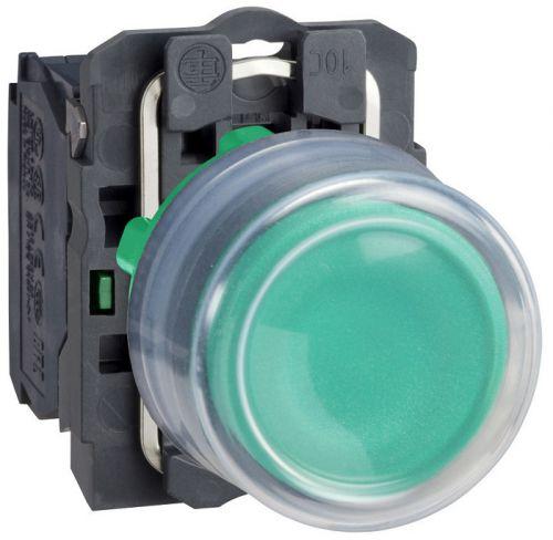 Кнопка Schneider Electric XB5AP31 с возвратом зеленая 22мм переключатель schneider electric xb5ad41 2 позиции с возвратом 22мм черный