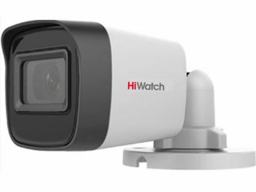 Видеокамера HiWatch DS-T500(С) 5Мп уличная цилиндрическая HD-TVI с EXIR-подсветкой до 30м, объектив 2.4мм