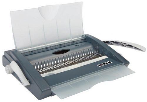 Брошюровщик Kobra Queenbind 500VD на пластик. пружину, перф. 28л., сшивает до 500 л., 21 откл.пуансон, вертик. загрузка, глубина перфорации 2-5 мм