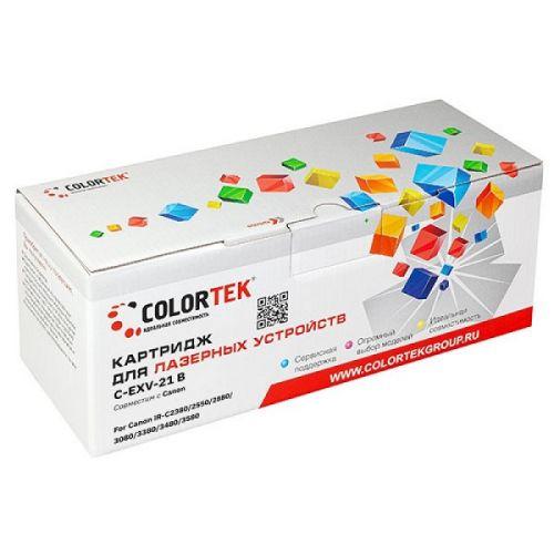 Картридж Colortek CT-CEXV21Bk для Canon iR-C2380, Canon iR-C2550, Canon iR-C2880, Canon iR-C3080, Canon iR-C3380, Canon iR-C3480, Canon iR-C3580, черн