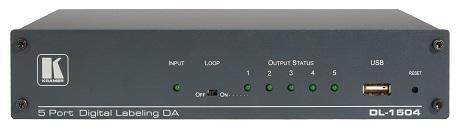 Усилитель-распределитель Kramer DL-1504 60-8045709011 1:5 сигнала HDMI c функцией наложения изображения, поддержка 4K60 4:2:0